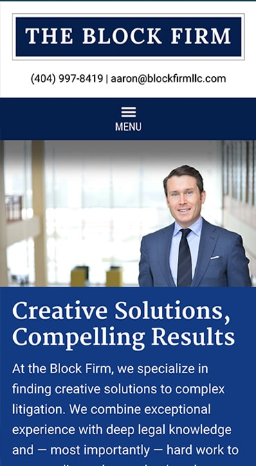 Responsive Mobile Attorney Website for The Block Firm, LLC