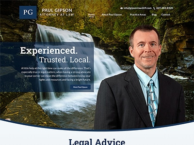 Website Design for Paul Gipson, Attorney at…