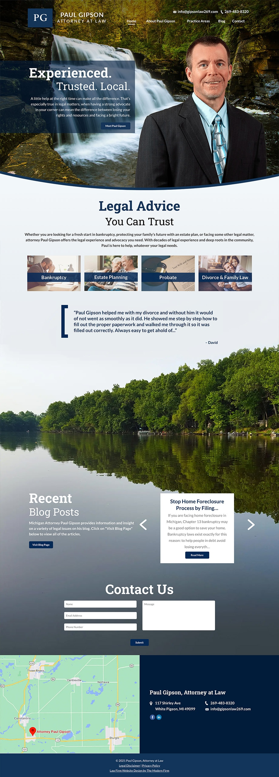 Law Firm Website Design for Paul Gipson, Attorney at Law