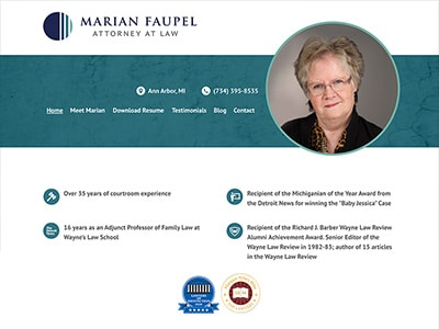 Law Firm Website design for Marian Faupel, Attorney a…