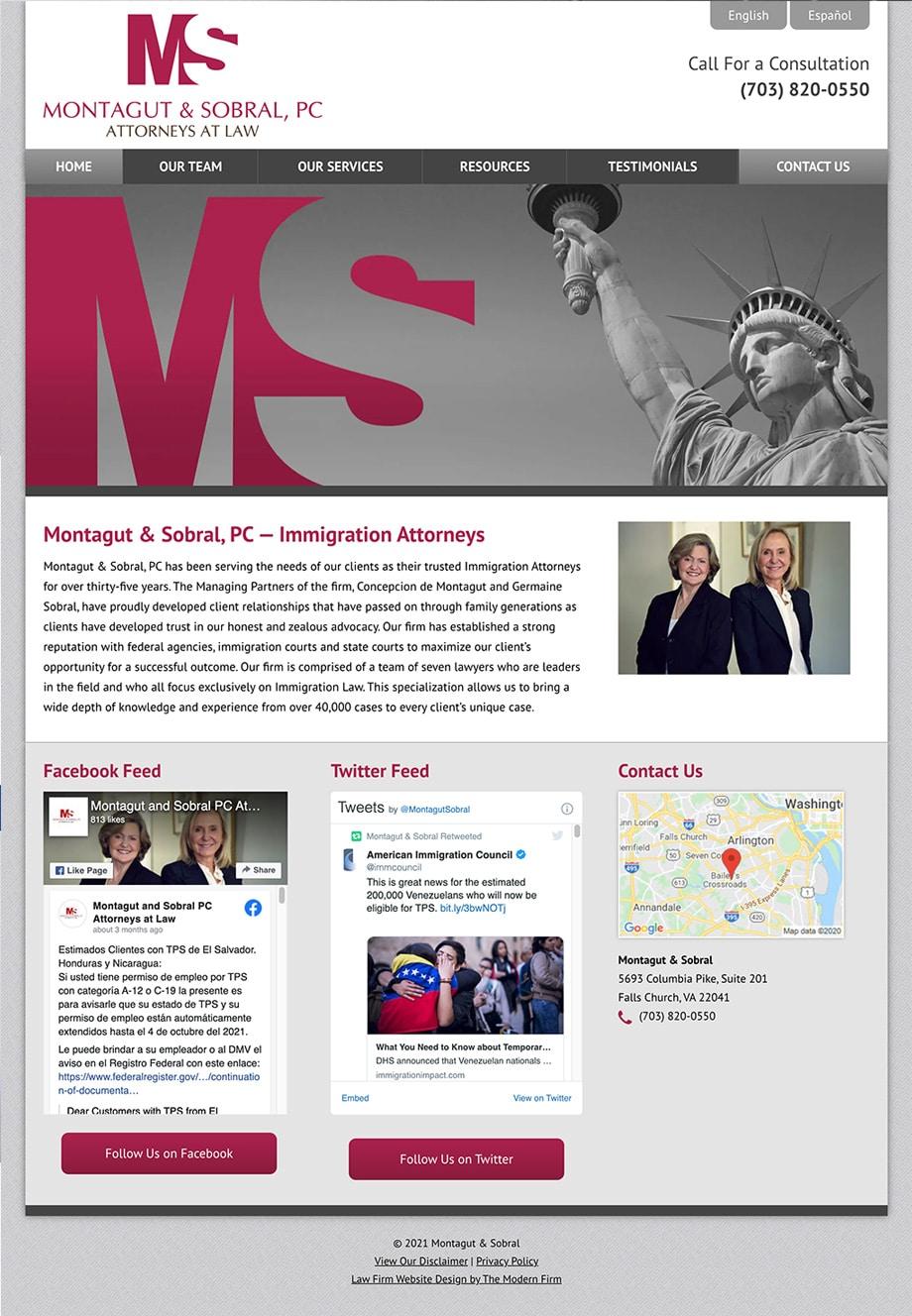 Law Firm Website Design for Montagut & Sobral