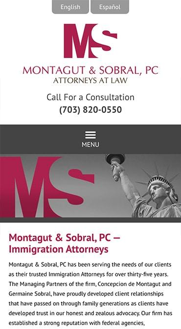 Responsive Mobile Attorney Website for Montagut & Sobral