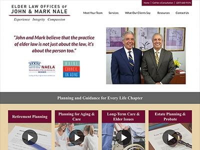 Law Firm Website design for Elder Law Offices of John…