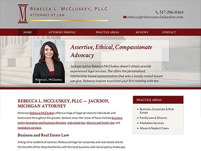 Law Firm Website design for Rebecca L. McCluskey, PLL…