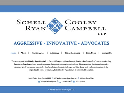 Law Firm Website design for Schell Cooley Ryan Campbe…