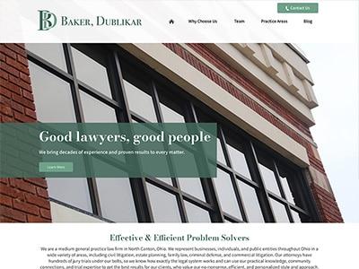 Law Firm Website design for Baker, Dublikar, Beck, Wi…
