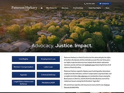 Law Firm Website design for Patterson Harkavy LLP