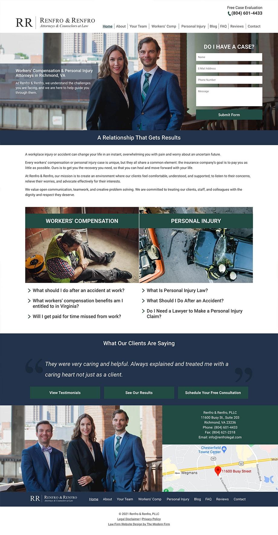 Law Firm Website Design for Renfro & Renfro, PLLC