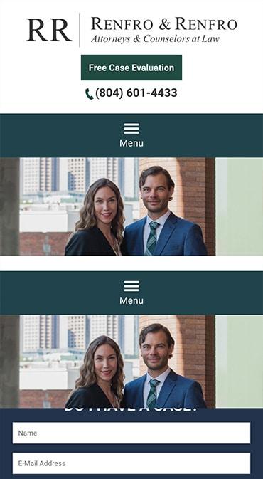 Responsive Mobile Attorney Website for Renfro & Renfro, PLLC