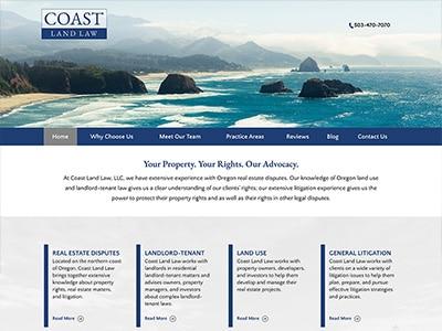 Website Design for Coast Land Law, LLC