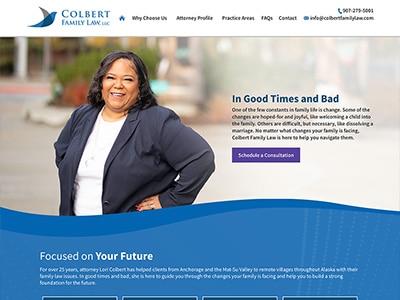 Website Design for Colbert Family Law, LLC