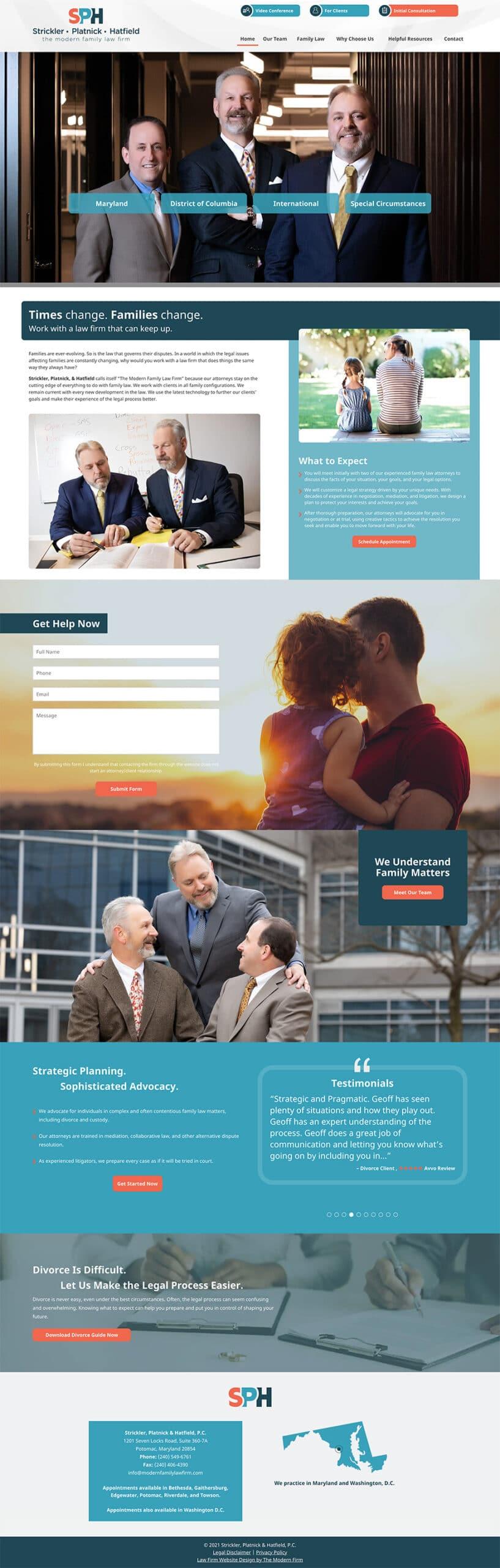 Law Firm Website Design for Strickler, Platnick & Hatfield, P.C.