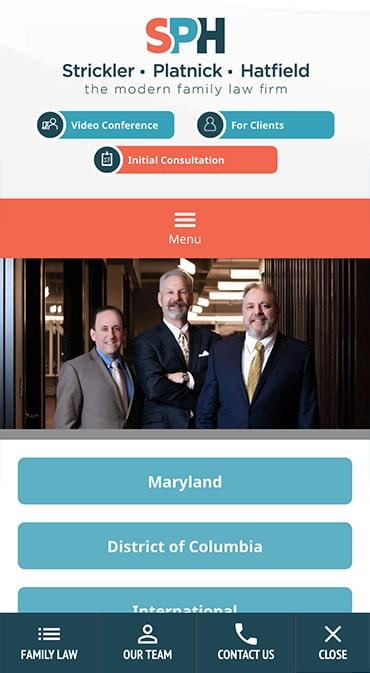 Responsive Mobile Attorney Website for Strickler, Platnick & Hatfield, P.C.