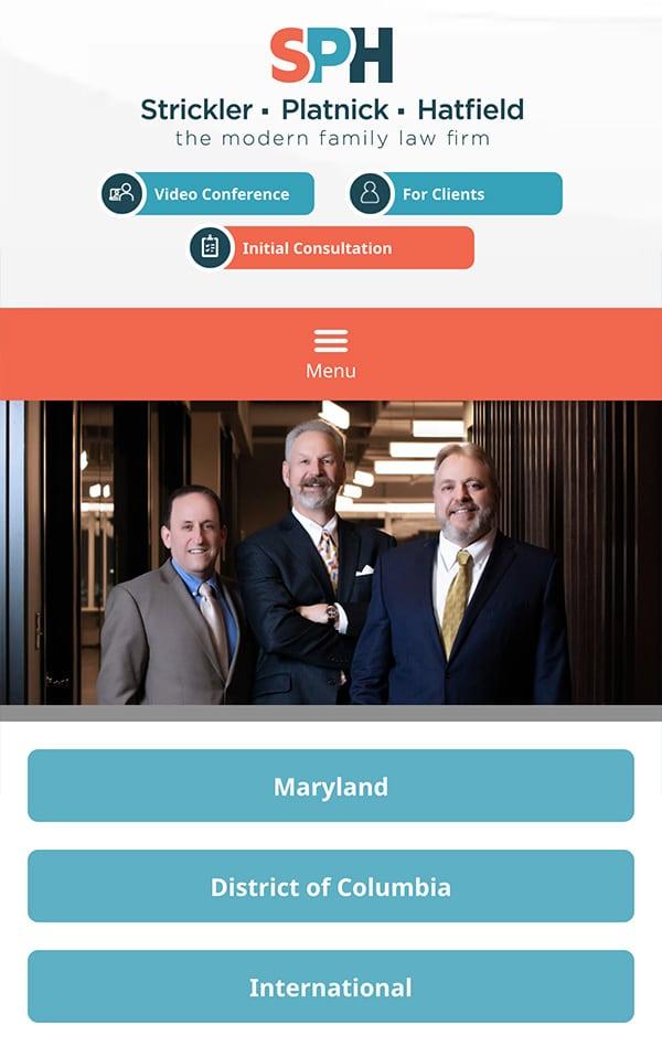 Mobile Friendly Law Firm Webiste for Strickler, Platnick & Hatfield, P.C.