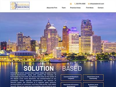 Website Design for Schenk & Bruetsch PLC