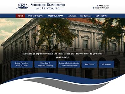 Law Firm Website design for Schroeder, Blankemeyer an…