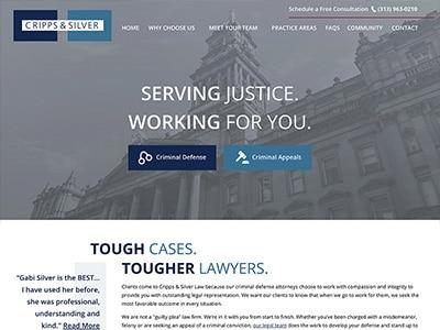 Website Design for Cripps & Silver Law