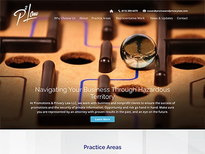 Law Firm Website design for Promotions & Privacy Law…