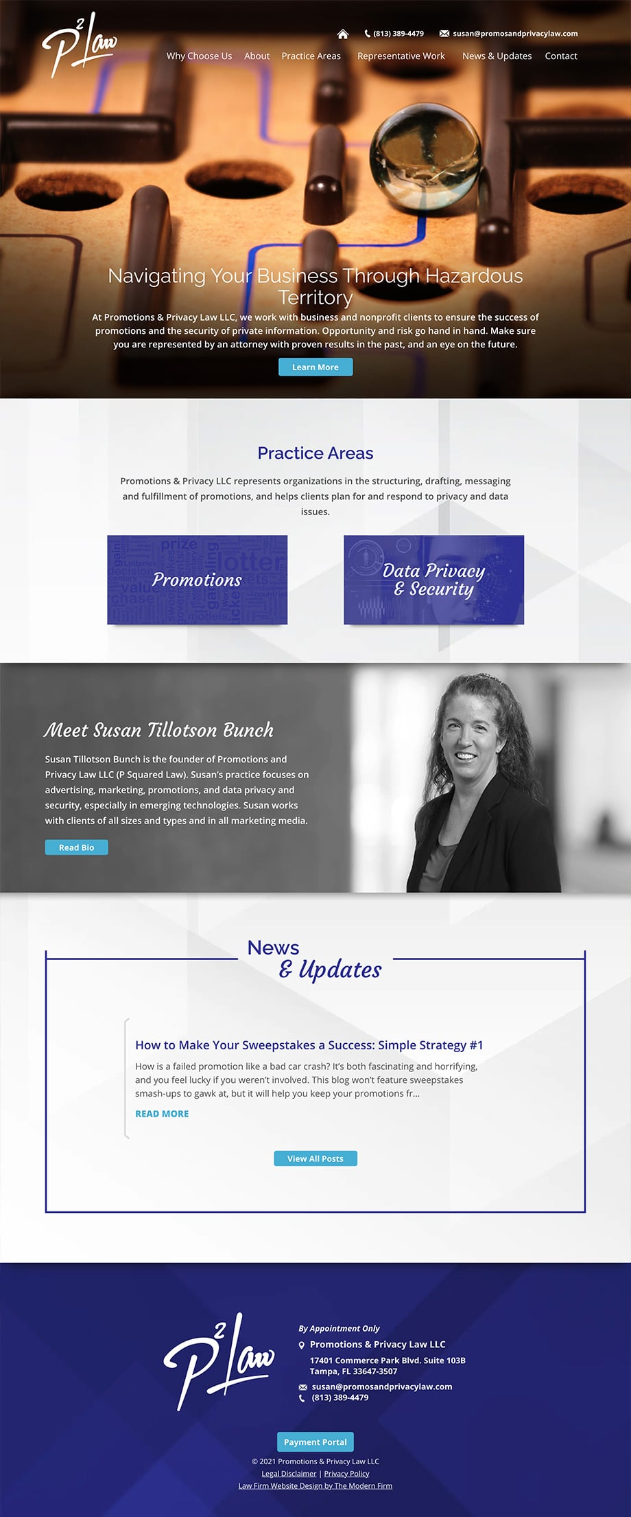 Law Firm Website Design for Promotions & Privacy Law LLC