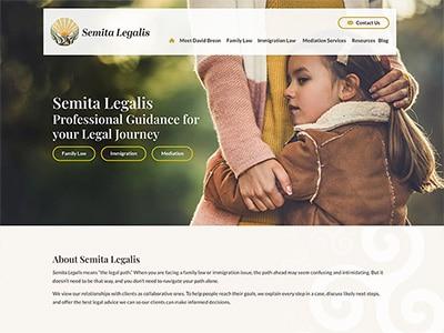 Website Design for Semita Legalis, LLC