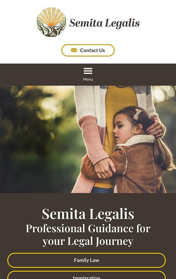 Mobile Friendly Law Firm Webiste for Semita Legalis, LLC
