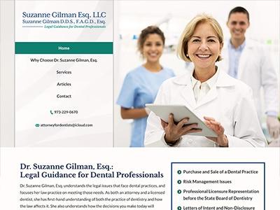 Website Design for Suzanne Gilman Esq. LLC