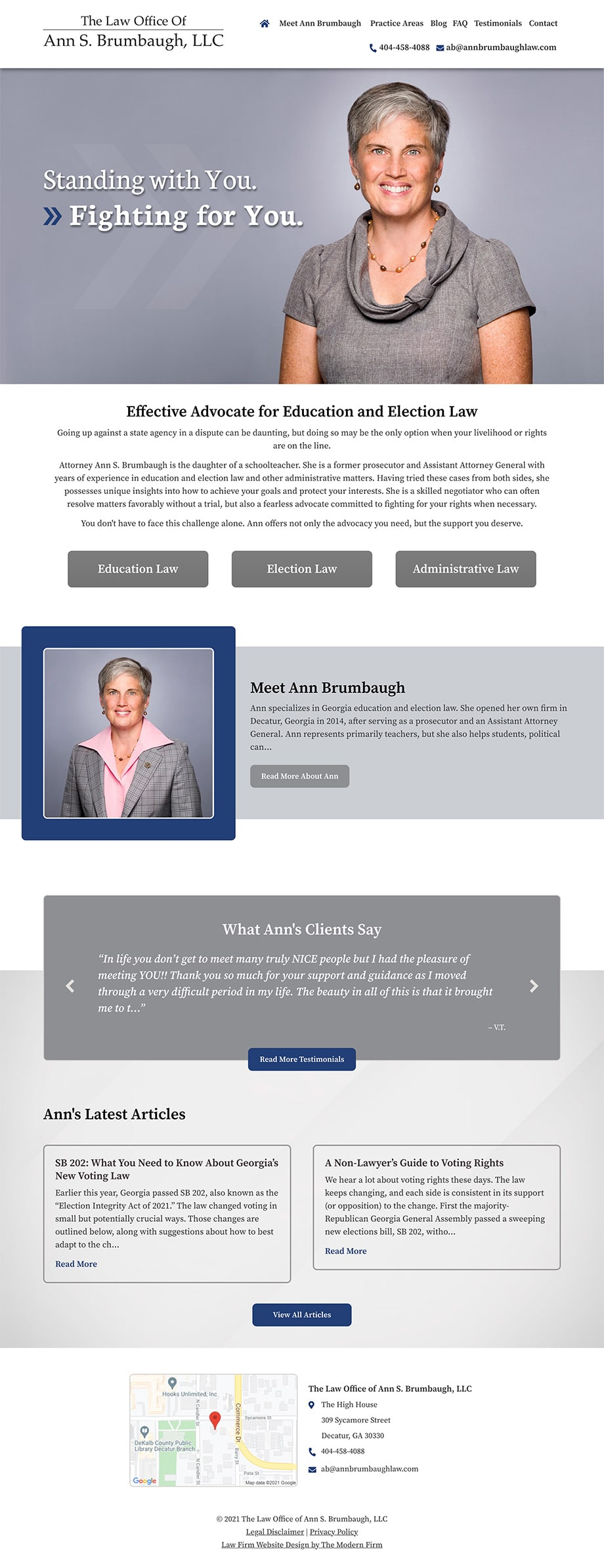Law Firm Website Design for The Law Office of Ann S. Brumbaugh, LLC