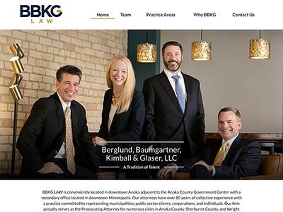Website Design for Berglund, Baumgartner, Ki…