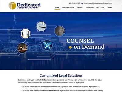 Website Design for Dedicated General Counsel…