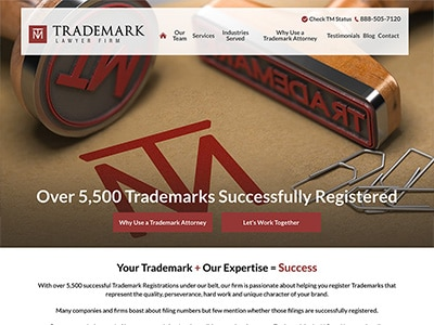 Website Design for Trademark Lawyer Law Firm…