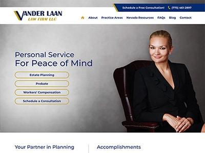 Law Firm Website design for Vander Laan Law Firm LLC