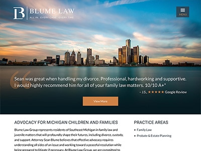 Website Design for Blume Law Group, PLLC