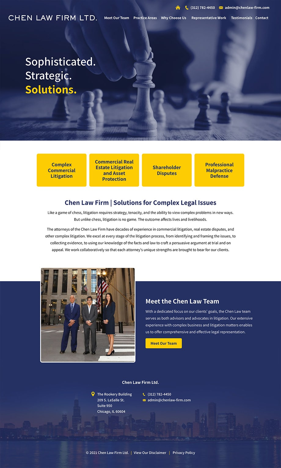 Law Firm Website Design for Chen Law Firm Ltd.