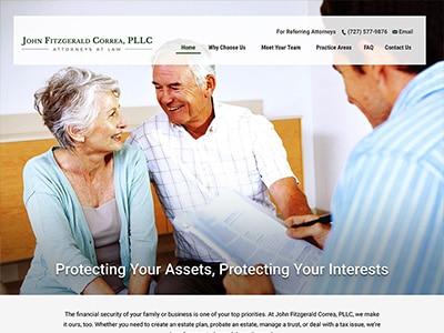 Law Firm Website design for John Fitzgerald Correa, P…