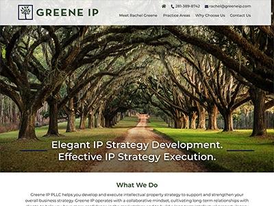 Law Firm Website design for Greene IP PLLC