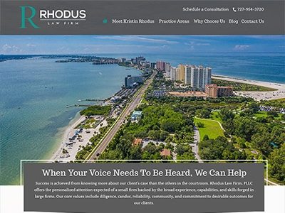 Law Firm Website design for Rhodus Law Firm