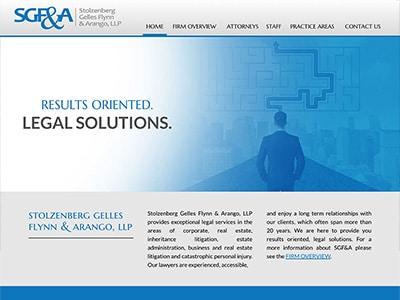 Law Firm Website design for Stolzenberg Gelles Flynn…