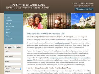 Maryland Law Firm Website Design