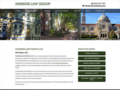 Washington DC Law Firm Website