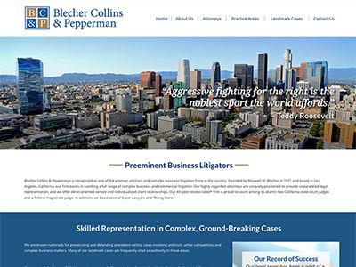 LA Law Firm Website
