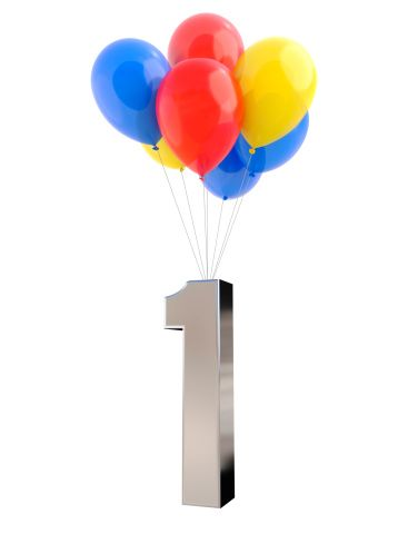 Balloons with Number 1