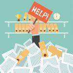 Too Much Non-Billable Work – Hand with Help Sign